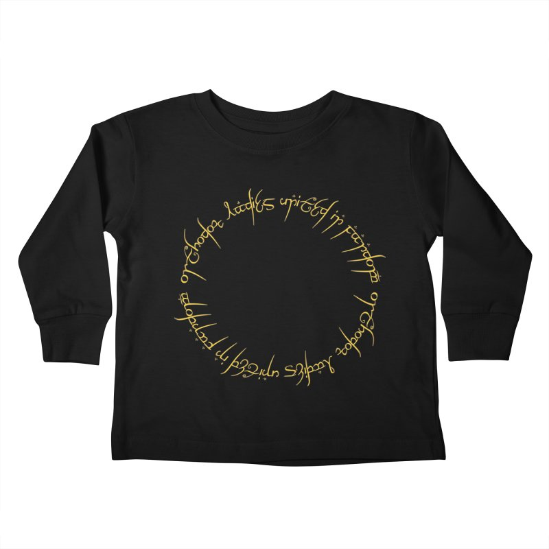 OLUF Lord of the Rings Logo 1 Kids Toddler Longsleeve T-Shirt by SteampunkEngineer's Shop