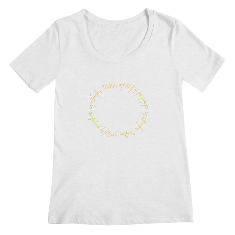 OLUF Lord of the Rings Logo 1 Women's Regular Scoop Neck by SteampunkEngineer's Shop