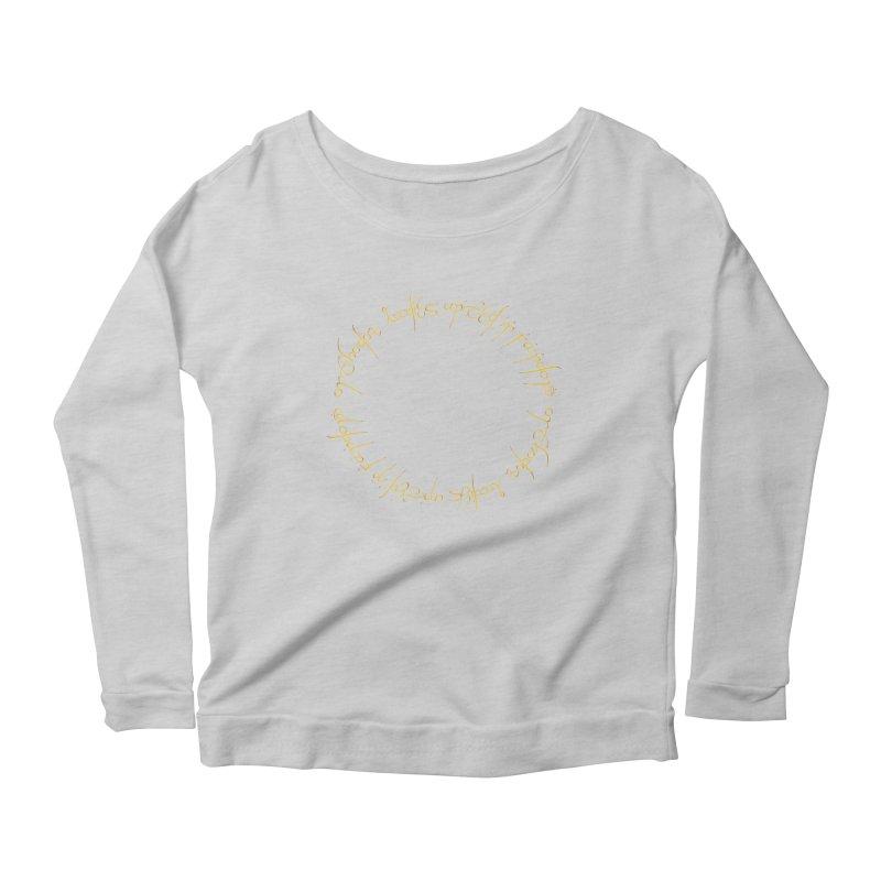 OLUF Lord of the Rings Logo 1 Women's Scoop Neck Longsleeve T-Shirt by SteampunkEngineer's Shop