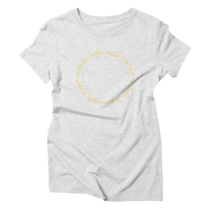 OLUF Lord of the Rings Logo 1 Women's T-Shirt by SteampunkEngineer's Shop