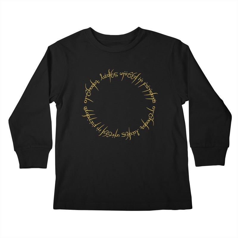 OLUF Lord of the Rings Logo 1 Kids Longsleeve T-Shirt by SteampunkEngineer's Shop