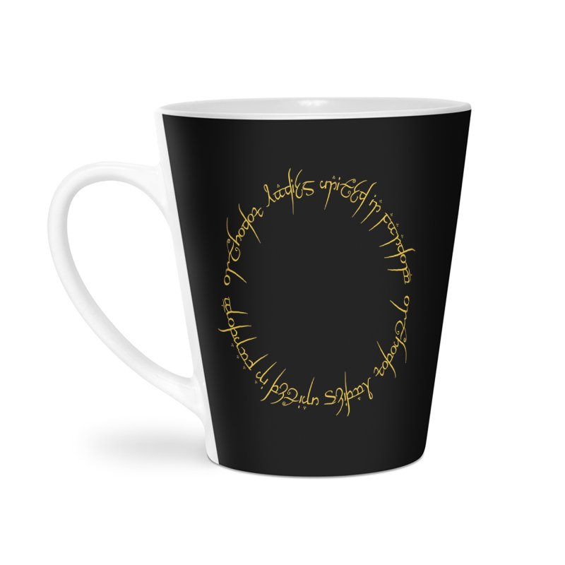 OLUF Lord of the Rings Logo 1 Accessories Latte Mug by SteampunkEngineer's Shop