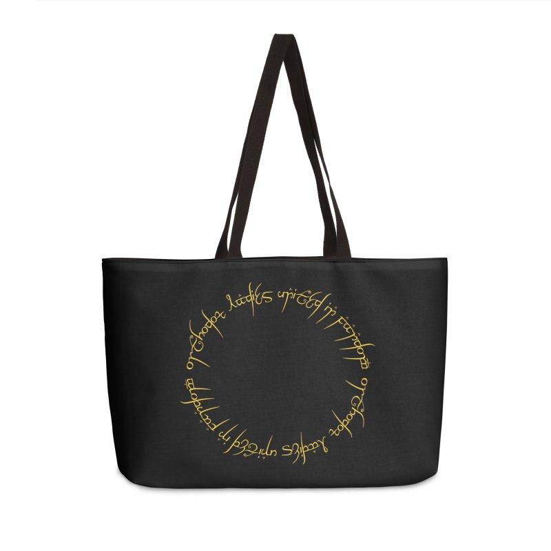 OLUF Lord of the Rings Logo 1 Accessories Weekender Bag Bag by SteampunkEngineer's Shop