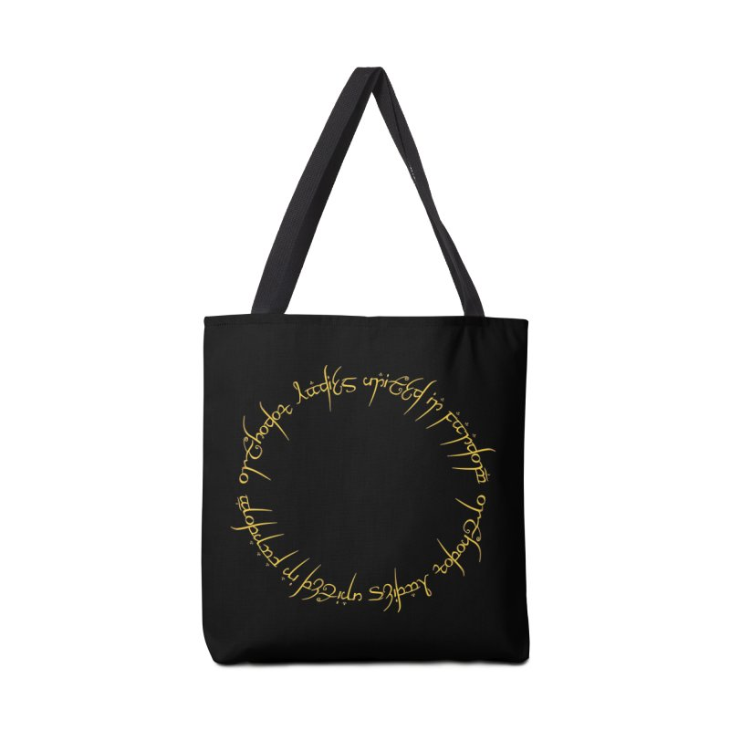 OLUF Lord of the Rings Logo 1 Accessories Tote Bag Bag by SteampunkEngineer's Shop