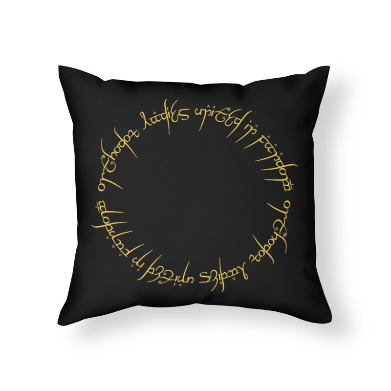 OLUF Lord of the Rings Logo 1 Home Throw Pillow by SteampunkEngineer's Shop
