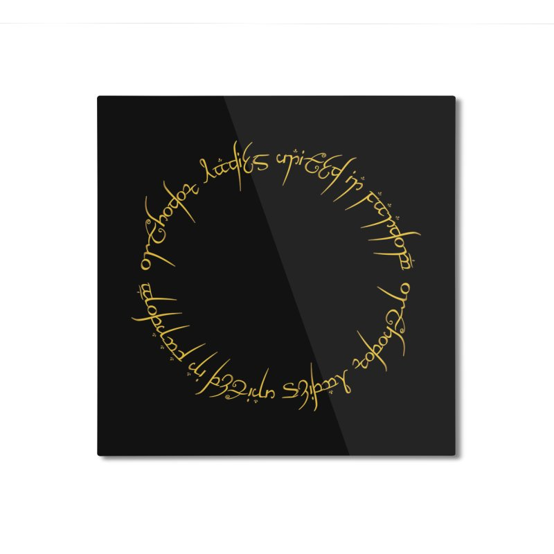 OLUF Lord of the Rings Logo 1 Home Mounted Aluminum Print by SteampunkEngineer's Shop