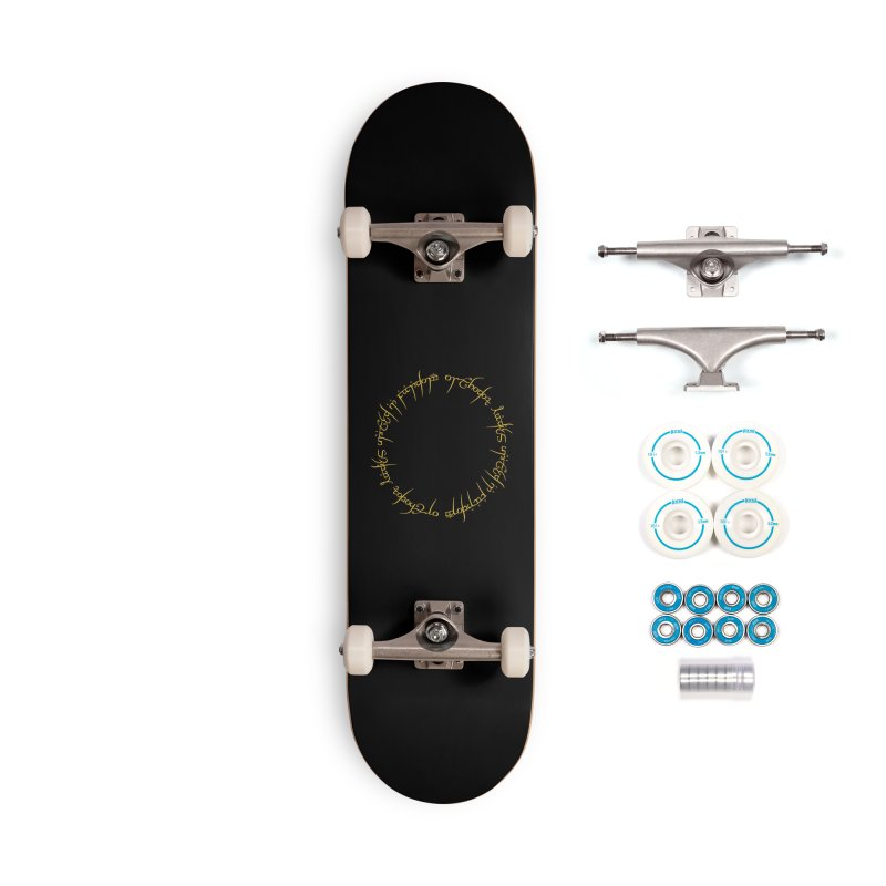OLUF Lord of the Rings Logo 1 Accessories Complete - Basic Skateboard by SteampunkEngineer's Shop