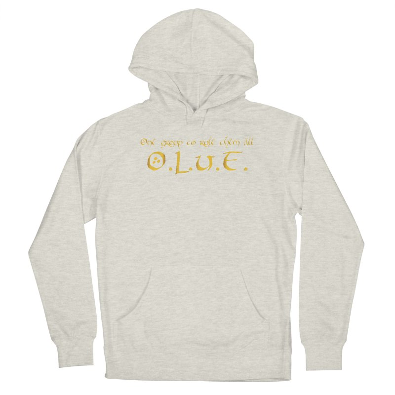 OLUF Lord of the Rings Logo 2 Men's French Terry Pullover Hoody by SteampunkEngineer's Shop