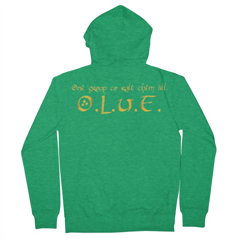 OLUF Lord of the Rings Logo 2 Men's Zip-Up Hoody by SteampunkEngineer's Shop