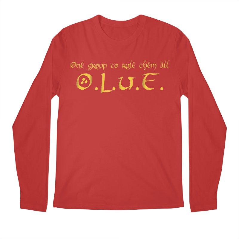OLUF Lord of the Rings Logo 2 Men's Regular Longsleeve T-Shirt by SteampunkEngineer's Shop