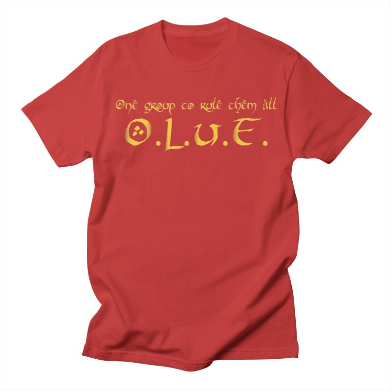 OLUF Lord of the Rings Logo 2 Men's T-Shirt by SteampunkEngineer's Shop