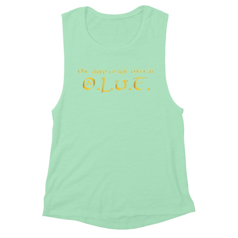 OLUF Lord of the Rings Logo 2 Women's Muscle Tank by SteampunkEngineer's Shop