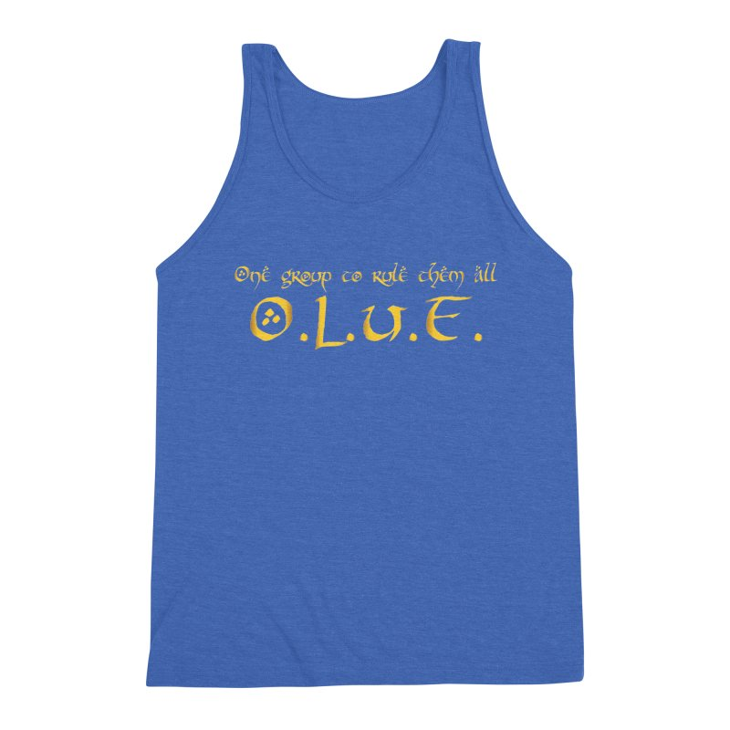 OLUF Lord of the Rings Logo 2 Men's Triblend Tank by SteampunkEngineer's Shop
