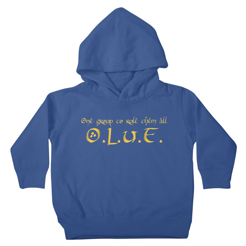 OLUF Lord of the Rings Logo 2 Kids Toddler Pullover Hoody by SteampunkEngineer's Shop