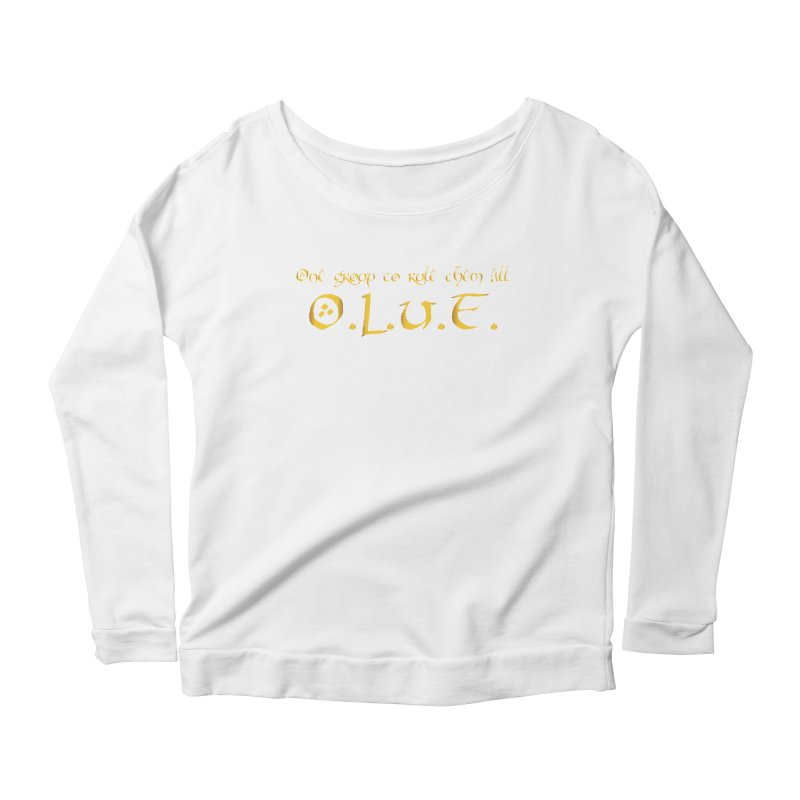 OLUF Lord of the Rings Logo 2 Women's Scoop Neck Longsleeve T-Shirt by SteampunkEngineer's Shop