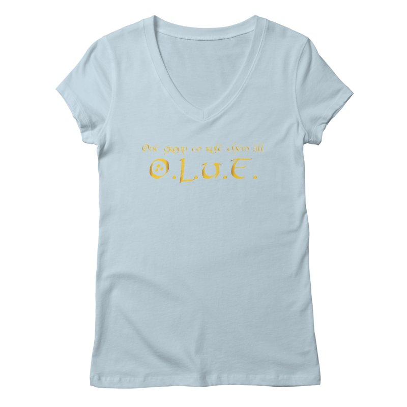 OLUF Lord of the Rings Logo 2 Women's Regular V-Neck by SteampunkEngineer's Shop