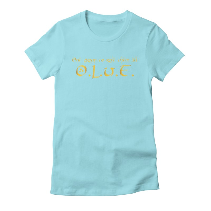 OLUF Lord of the Rings Logo 2 Women's Fitted T-Shirt by SteampunkEngineer's Shop