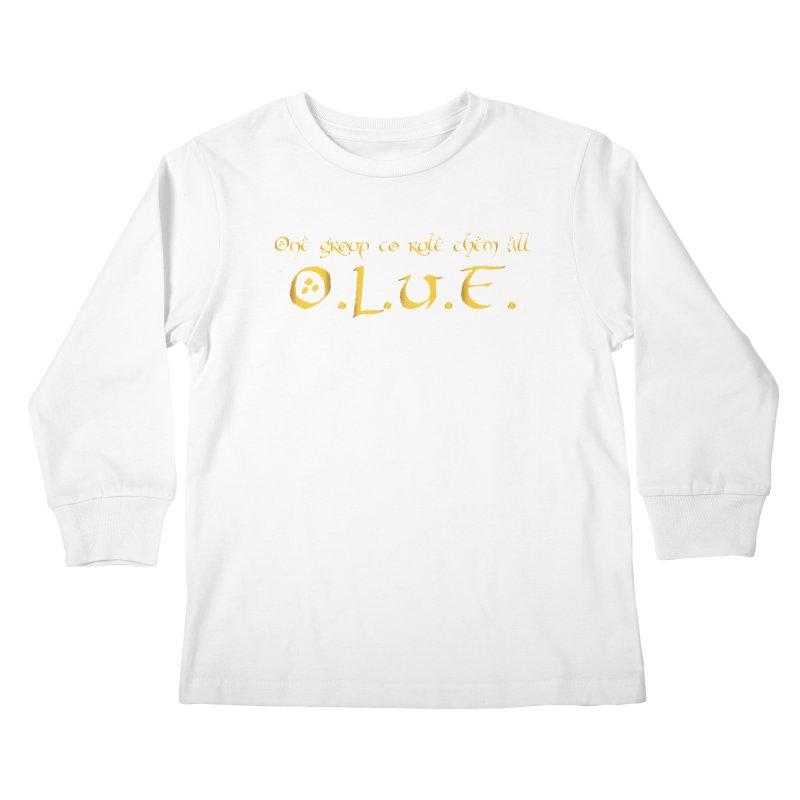 OLUF Lord of the Rings Logo 2 Kids Longsleeve T-Shirt by SteampunkEngineer's Shop