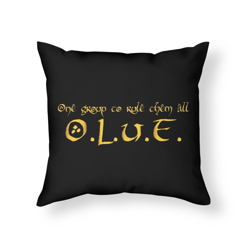 OLUF Lord of the Rings Logo 2 Home Throw Pillow by SteampunkEngineer's Shop