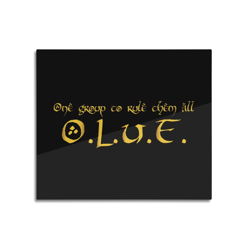 OLUF Lord of the Rings Logo 2 Home Mounted Aluminum Print by SteampunkEngineer's Shop
