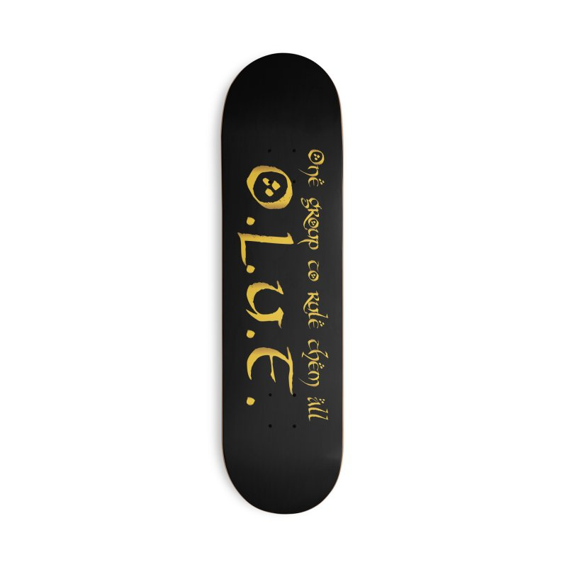 OLUF Lord of the Rings Logo 2 Accessories Deck Only Skateboard by SteampunkEngineer's Shop