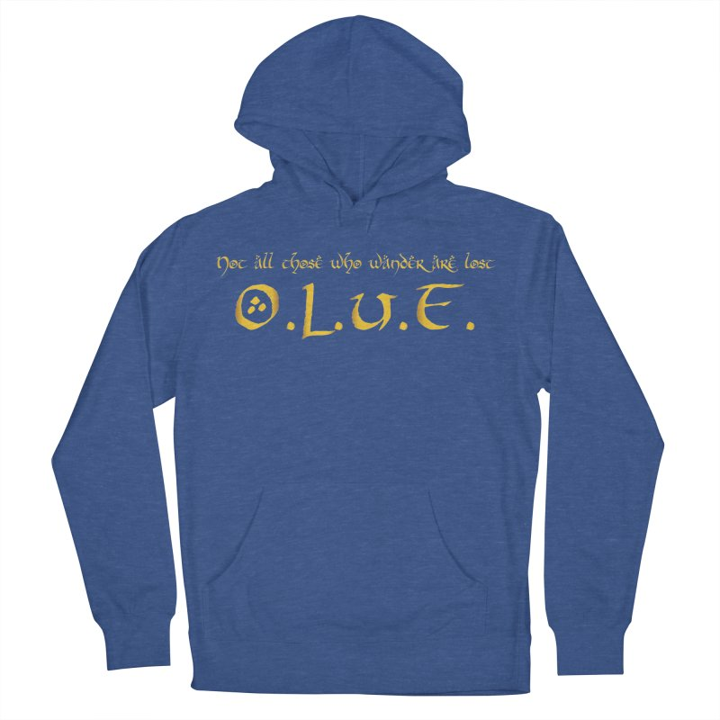 OLUF Lord of the Rings Logo 3 Men's French Terry Pullover Hoody by SteampunkEngineer's Shop