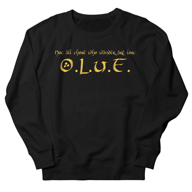 OLUF Lord of the Rings Logo 3 Men's French Terry Sweatshirt by SteampunkEngineer's Shop