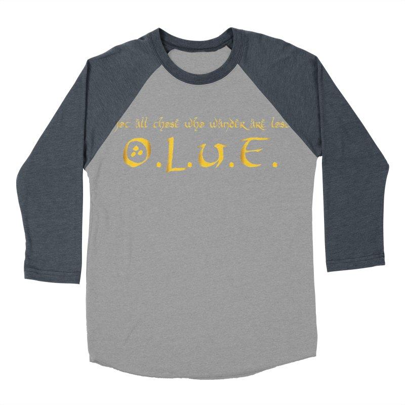 OLUF Lord of the Rings Logo 3 Men's Baseball Triblend Longsleeve T-Shirt by SteampunkEngineer's Shop