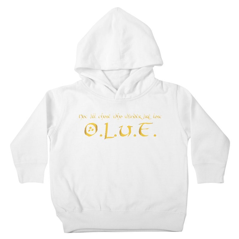 OLUF Lord of the Rings Logo 3 Kids Toddler Pullover Hoody by SteampunkEngineer's Shop