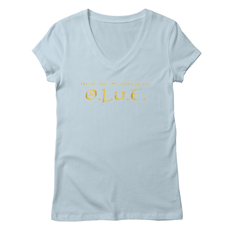 OLUF Lord of the Rings Logo 3 Women's Regular V-Neck by SteampunkEngineer's Shop