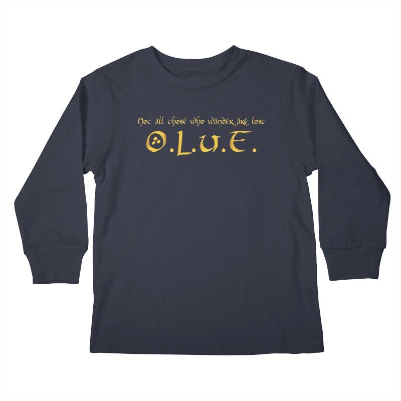 OLUF Lord of the Rings Logo 3 Kids Longsleeve T-Shirt by SteampunkEngineer's Shop