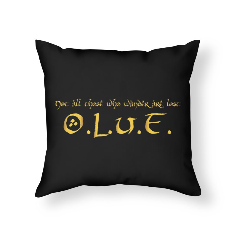 OLUF Lord of the Rings Logo 3 Home Throw Pillow by SteampunkEngineer's Shop
