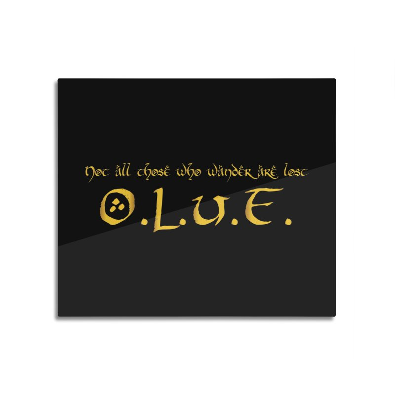 OLUF Lord of the Rings Logo 3 Home Mounted Acrylic Print by SteampunkEngineer's Shop