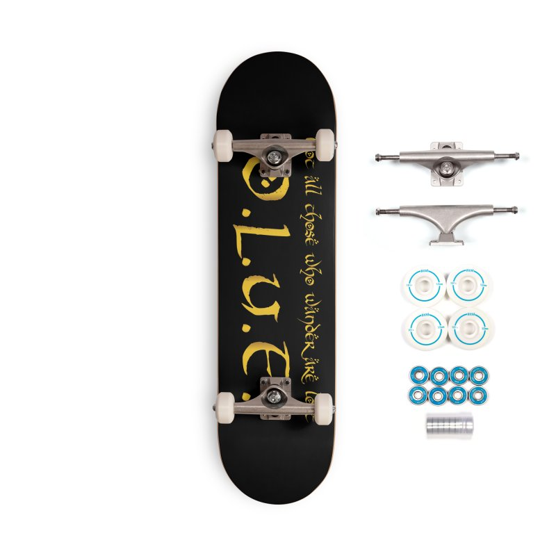 OLUF Lord of the Rings Logo 3 Accessories Complete - Basic Skateboard by SteampunkEngineer's Shop