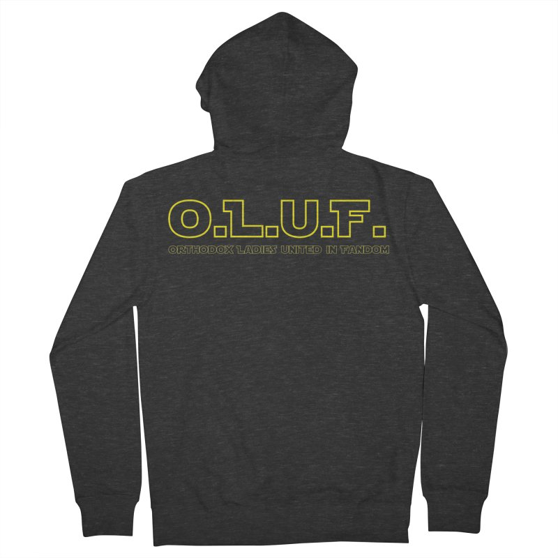 OLUF Star Wars Logo 3 Men's French Terry Zip-Up Hoody by SteampunkEngineer's Shop