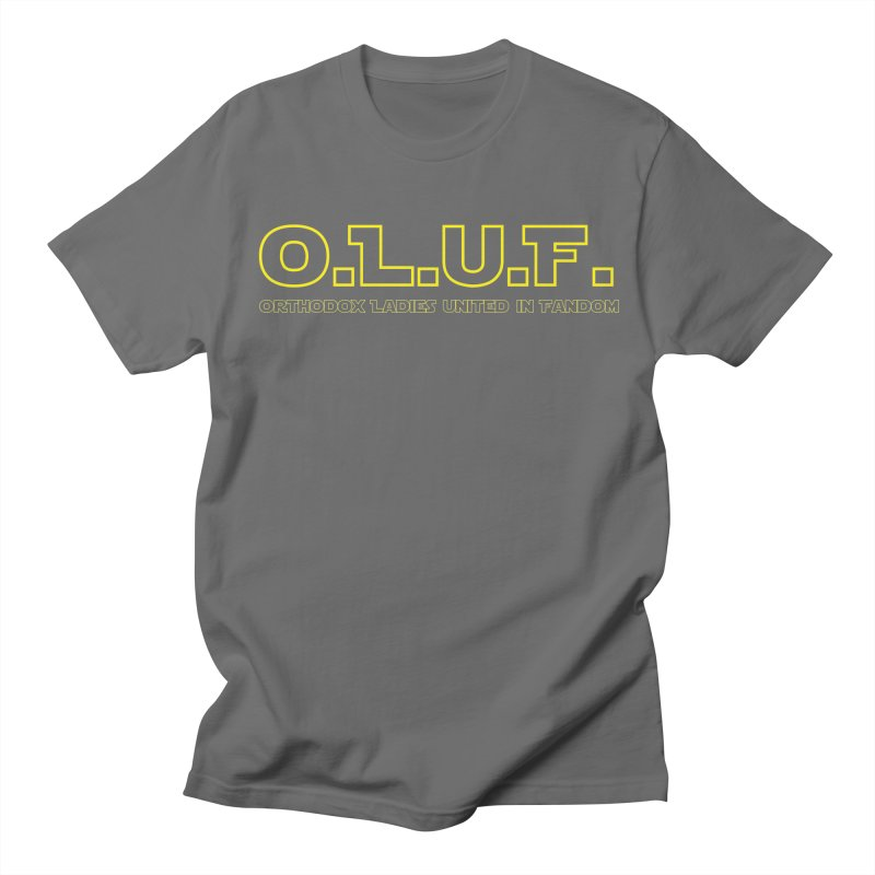 OLUF Star Wars Logo 3 Men's T-Shirt by SteampunkEngineer's Shop