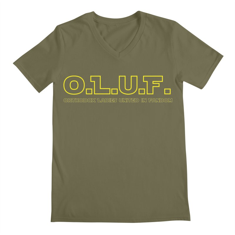 OLUF Star Wars Logo 3 Men's Regular V-Neck by SteampunkEngineer's Shop
