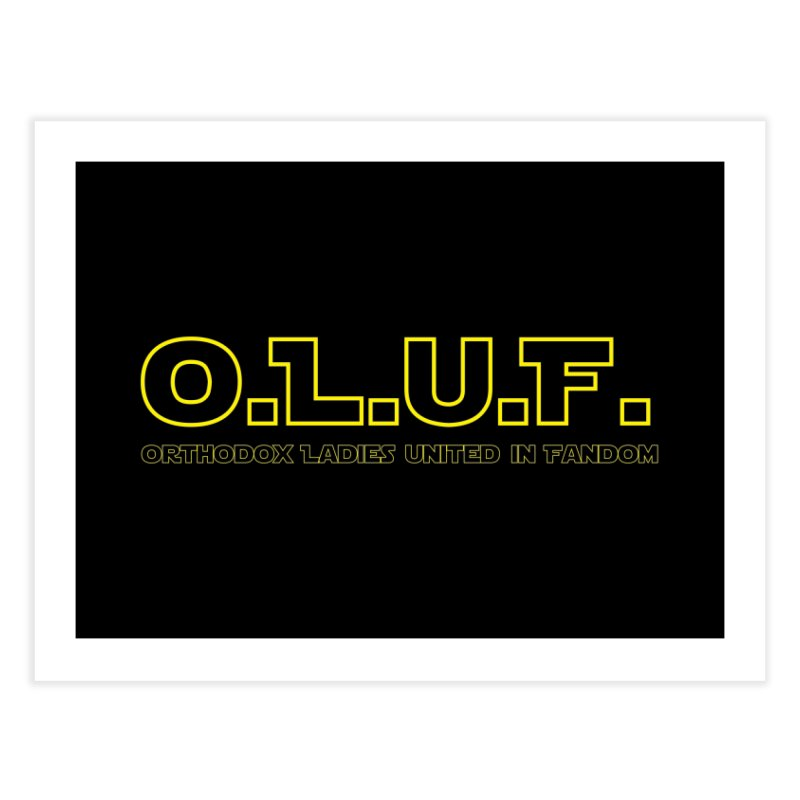 OLUF Star Wars Logo 3 Home Fine Art Print by SteampunkEngineer's Shop