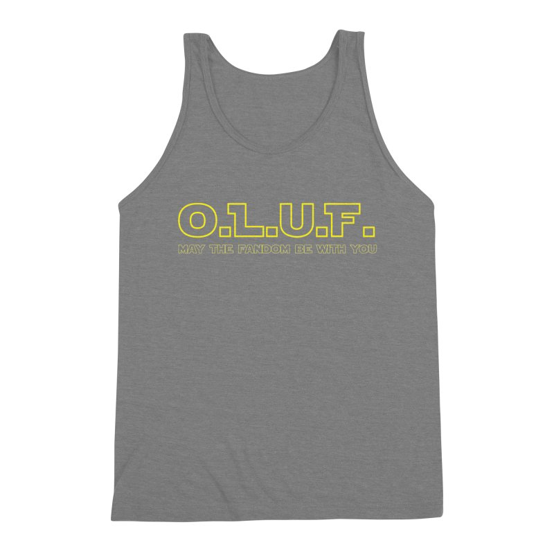 OLUF Star Wars Logo 4 Men's Triblend Tank by SteampunkEngineer's Shop