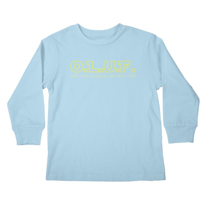 OLUF Star Wars Logo 4 Kids Longsleeve T-Shirt by SteampunkEngineer's Shop