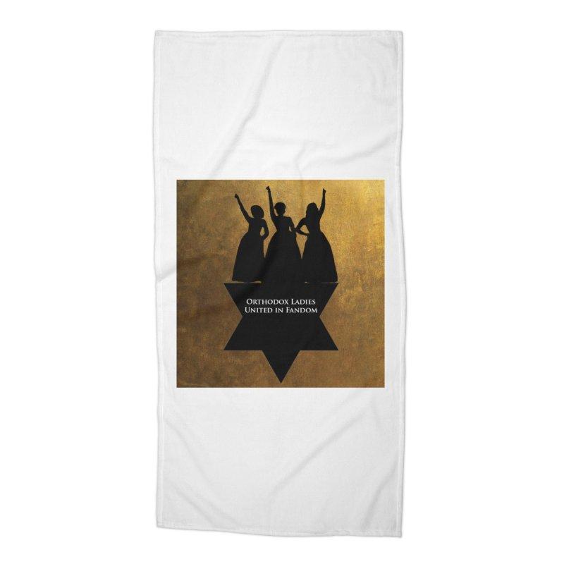 OLUF Hamilton Logo Accessories Beach Towel by SteampunkEngineer's Shop