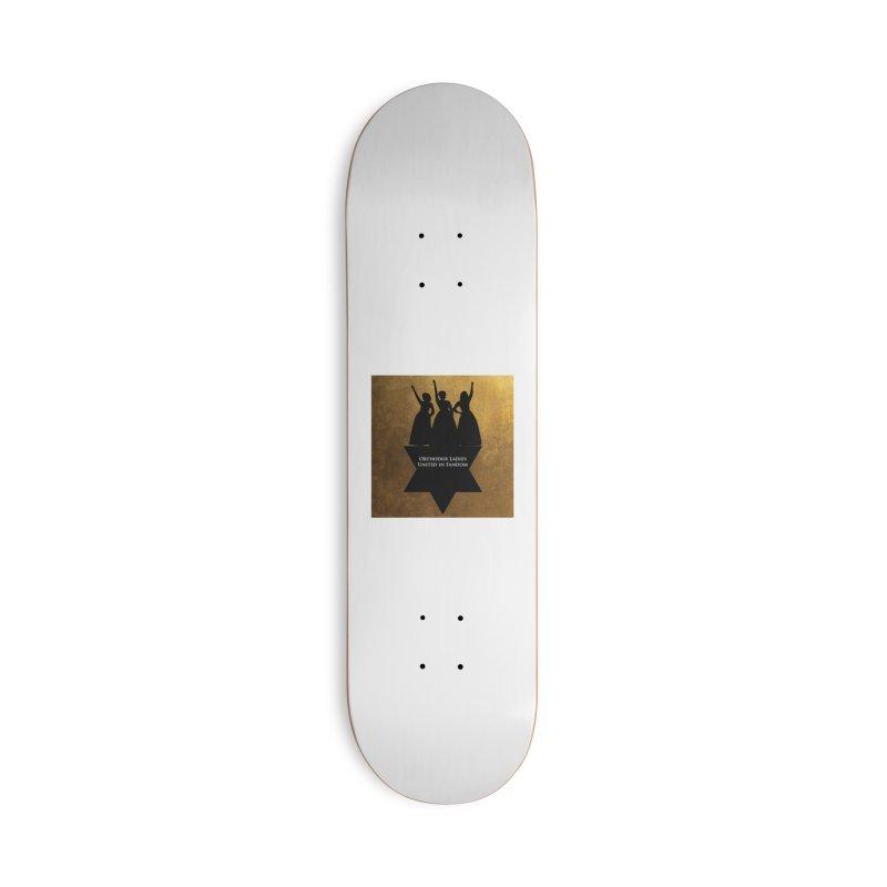 OLUF Hamilton Logo Accessories Deck Only Skateboard by SteampunkEngineer's Shop
