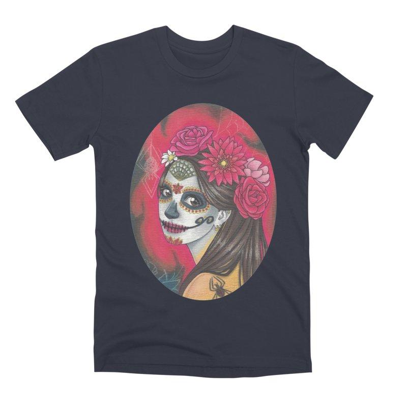 Girl on Dia de los Muertos Men's Premium T-Shirt by SteampunkEngineer's Shop
