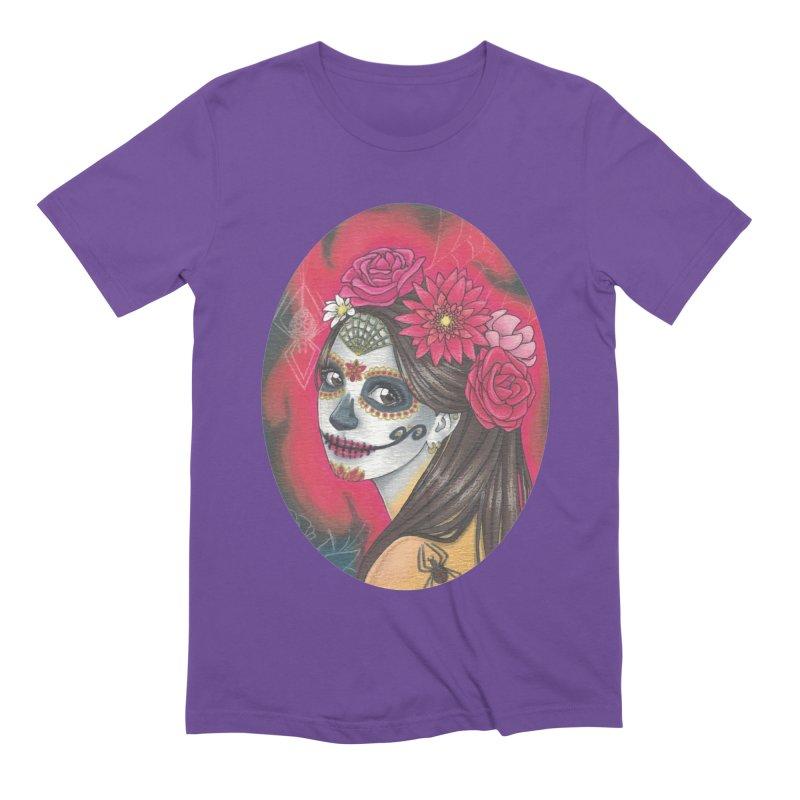 Girl on Dia de los Muertos Men's Extra Soft T-Shirt by SteampunkEngineer's Shop
