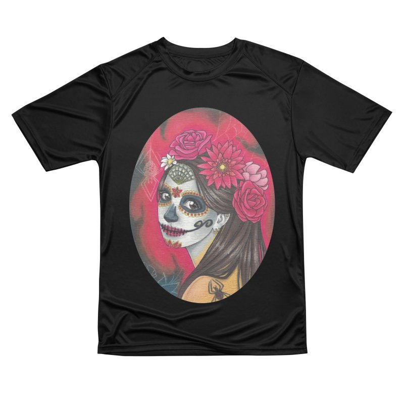Girl on Dia de los Muertos Women's Performance Unisex T-Shirt by SteampunkEngineer's Shop