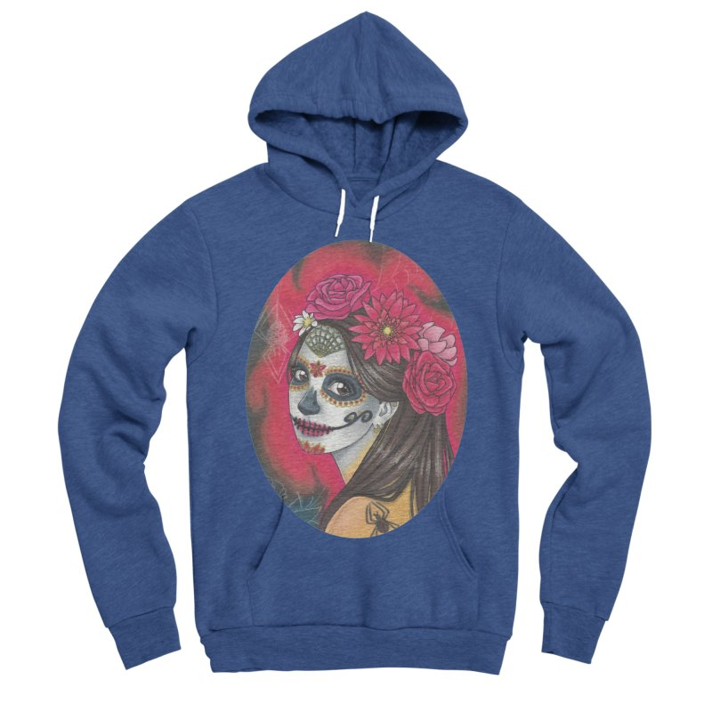 Girl on Dia de los Muertos Women's Sponge Fleece Pullover Hoody by SteampunkEngineer's Shop