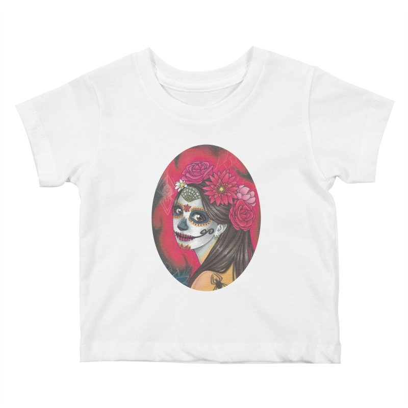 Girl on Dia de los Muertos Kids Baby T-Shirt by SteampunkEngineer's Shop