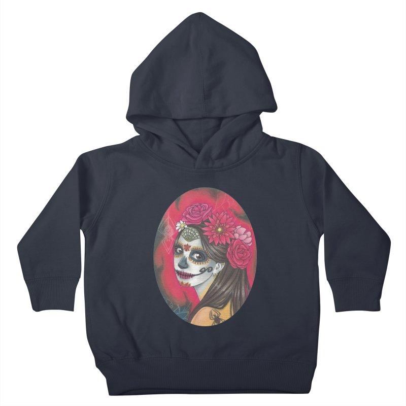 Girl on Dia de los Muertos Kids Toddler Pullover Hoody by SteampunkEngineer's Shop