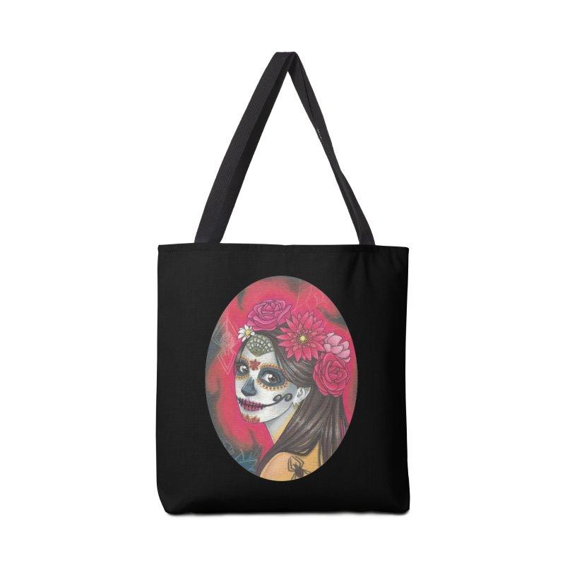 Girl on Dia de los Muertos Accessories Bag by SteampunkEngineer's Shop