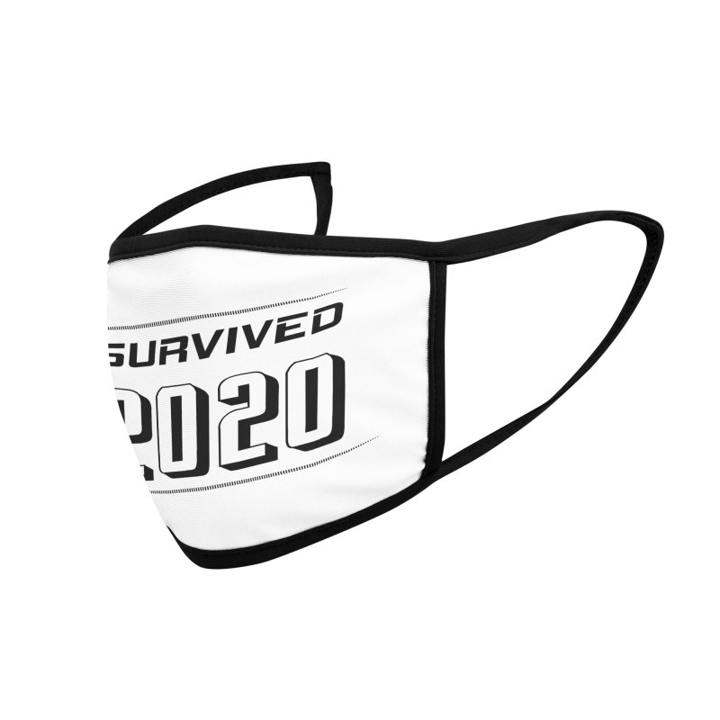 I survived 2020 - Black Accessories Face Mask by SteampunkEngineer's Shop